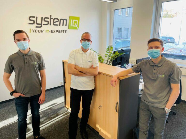 Die drei neuen Mitarbeiter bei systemIQ in St. Florian